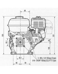 Moteur 7CV thermique SR170 Démarreur Electrique