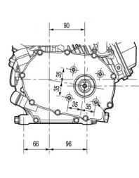 Moteur 6.5 CV Thermique 1/2 réducté embrayage