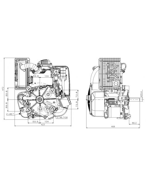 moteur 16cv tracteur tondeuse autoport u00e9e