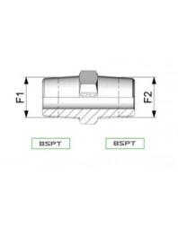 Raccord hydraulique BSPT - BSPT 3/4 BSPT 3/4 BSPT