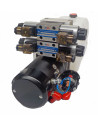 Mini centrale hydraulique 12Volts 2X Double effet