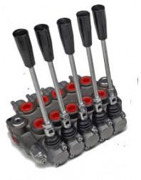 Distributeur hydraulique 45L/min 5 voies double effet